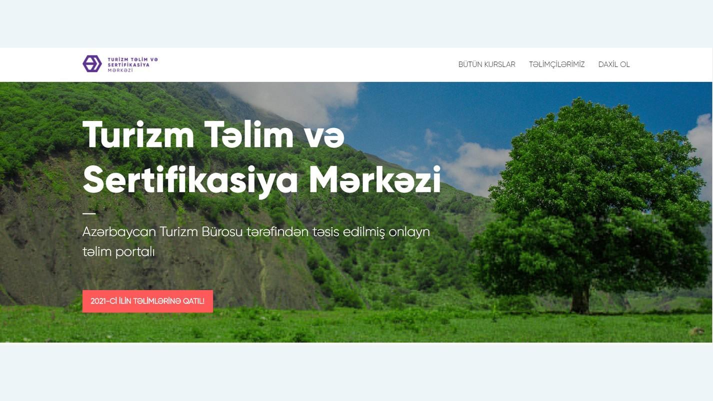 >Turizm Təlim və Sertifikasiya Mərkəzi 2021-ci il üçün təlim proqramını elan edib