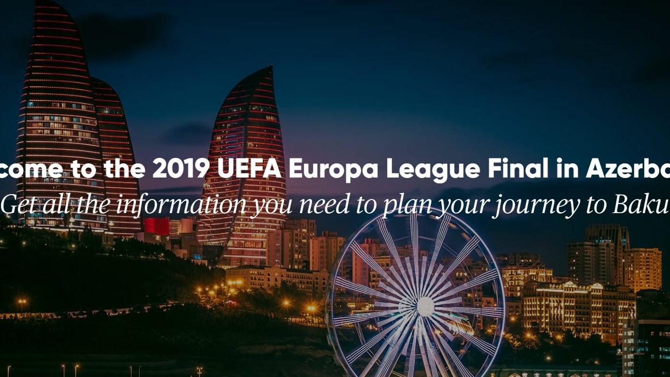 UEFA-nın Avropa Liqasının final oyununa gələcək turistlər üçün yeni sayt istifadəyə verilib