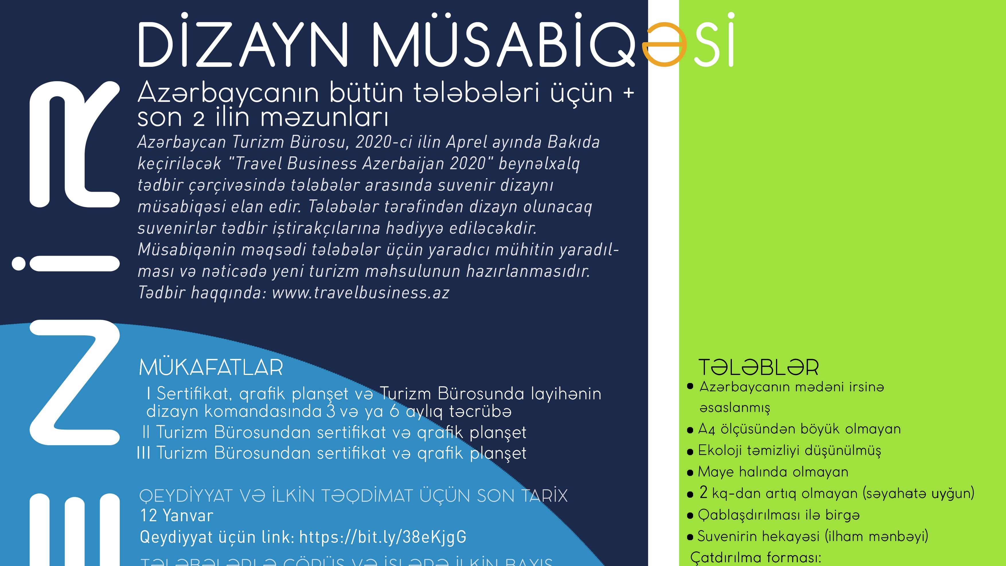 Azərbaycan Turizm Bürosu suvenir dizaynı müsabiqəsi elan edir