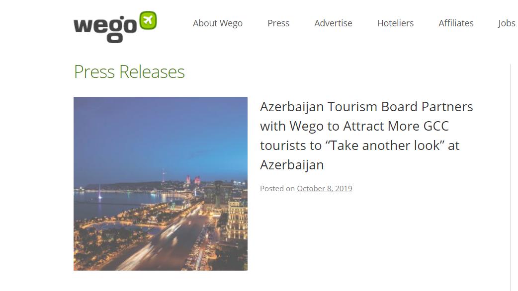 Azərbaycan Yaxın Şərqdə turizm potensialının təbliğatını genişləndirir