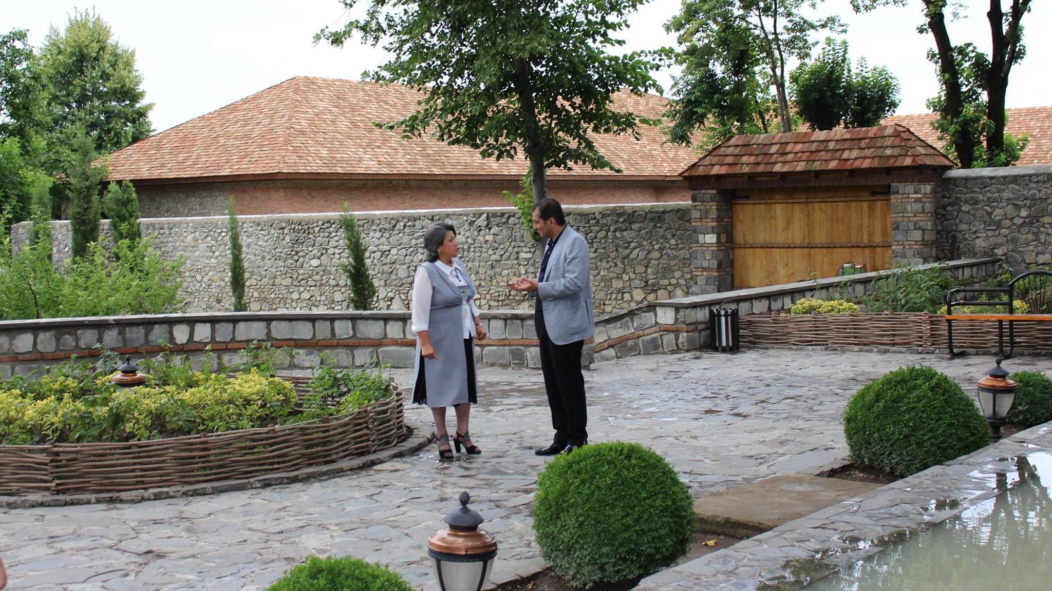 """DTA sədri Fuad Nağıyev """"Yuxarı Baş"""" Dövlət Tarix-Memarlıq Qoruğuna baxış keçirib"""