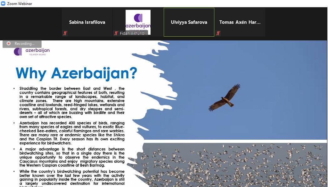 >Azərbaycanın ornitoloji turizm imkanları tanıdılıb