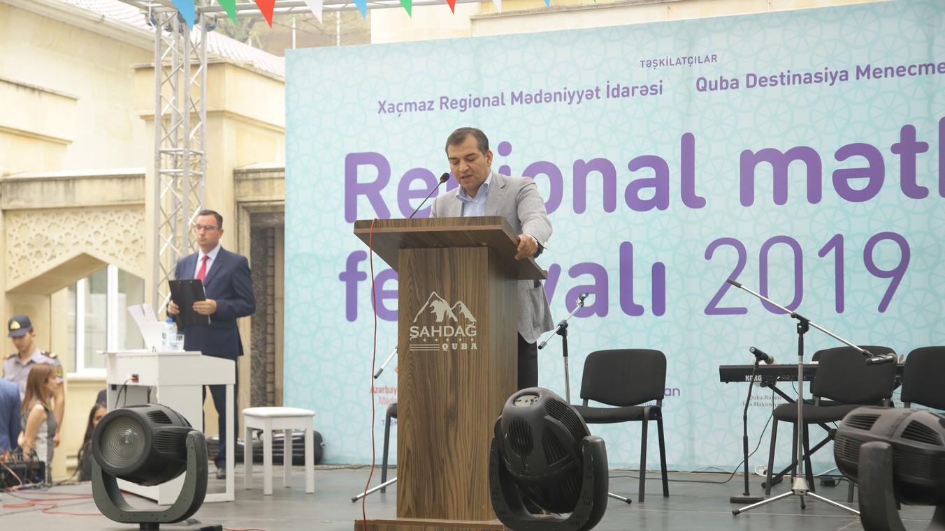 """Quba şəhərində """"Regional Mətbəx Festivalı"""" adlı festivalın açılış mərasimi keçirilib"""